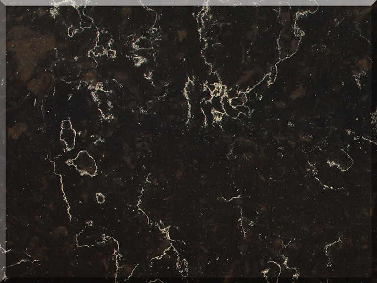 Цветовая палитра кварцевый камень Vicostone Marble Effect Java Noir BQ8812