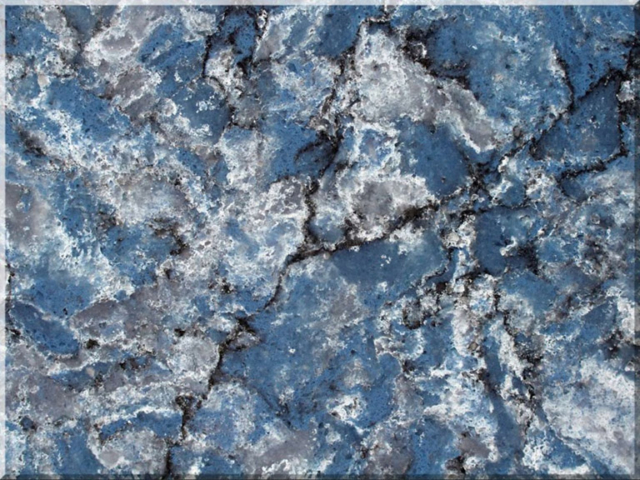 Цветовая палитра кварцевый камень Vicostone Thunder Blue BQ 8786